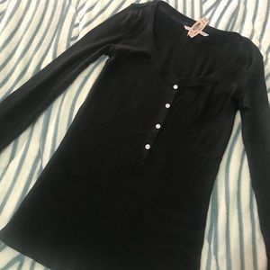 NWT Victoria's Secret thermal long sleeve Black XS